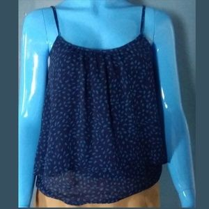 NEW YORK & COMPANY Blue Summer Top Size Small